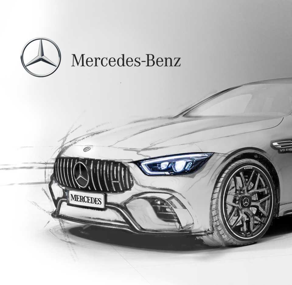 Conception et développement du site web et de l'application mobile Mercedes-Benz par l'agence web et mobile Majjane.