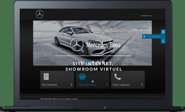 Conception et développement du site internet de Mercedes-Benz par l'agence web Majjane