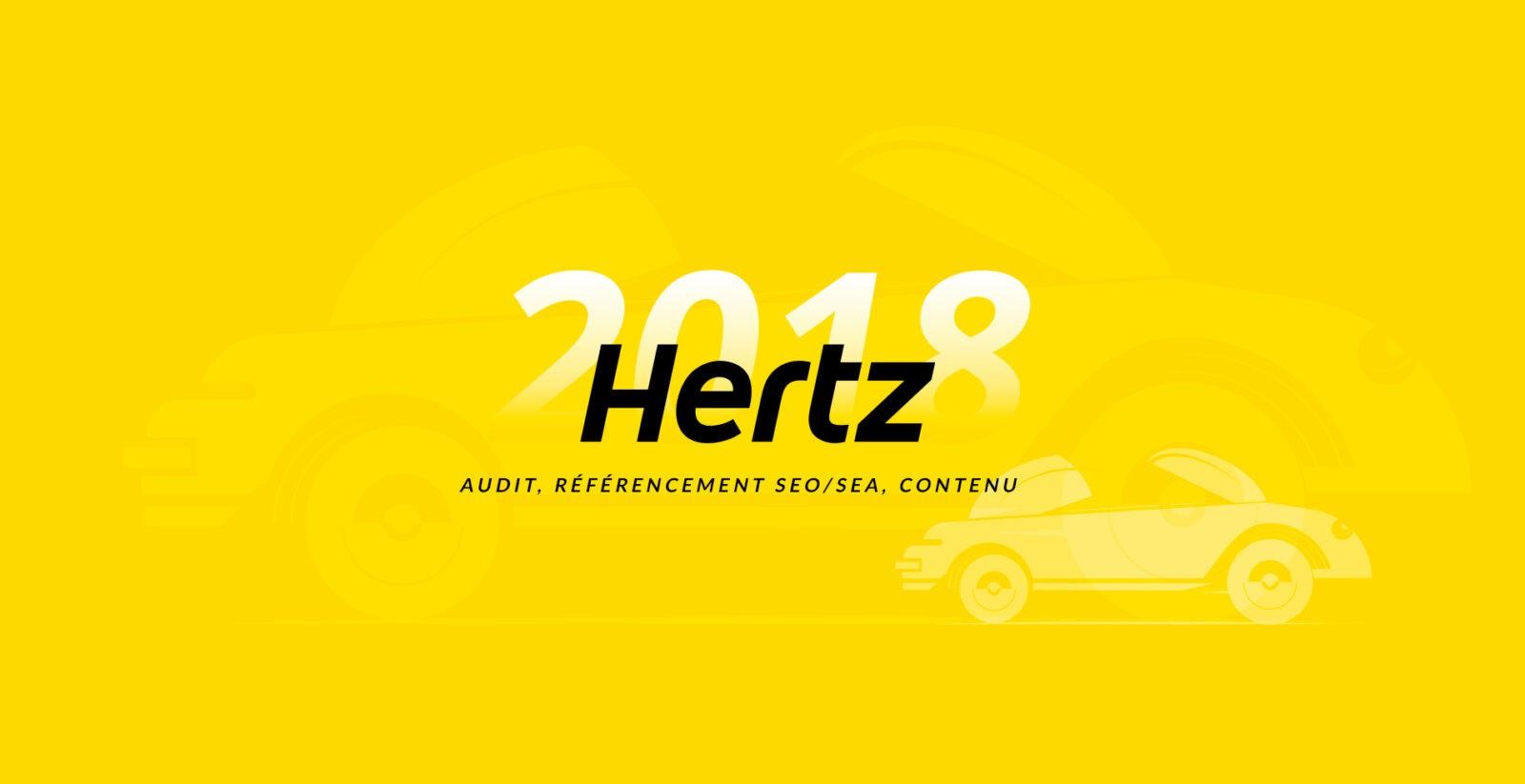 Mise en place et optimisation du référencement naturel et payant du site internet de HERTZ par l'agence web Majjane.