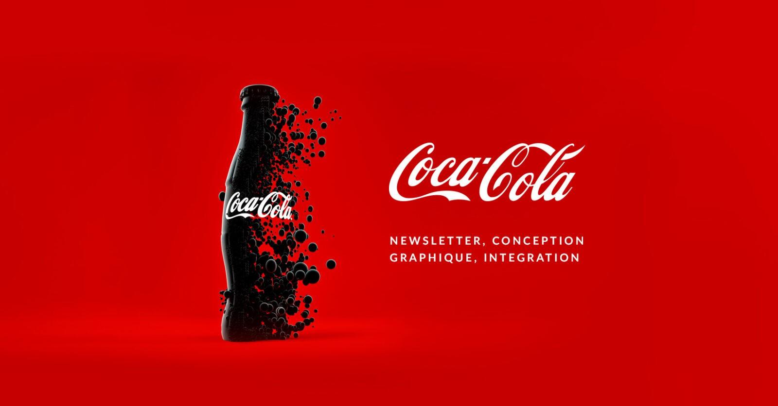 Conception graphique et E-mailing pour Coca-cola par l'agence web Majjane.