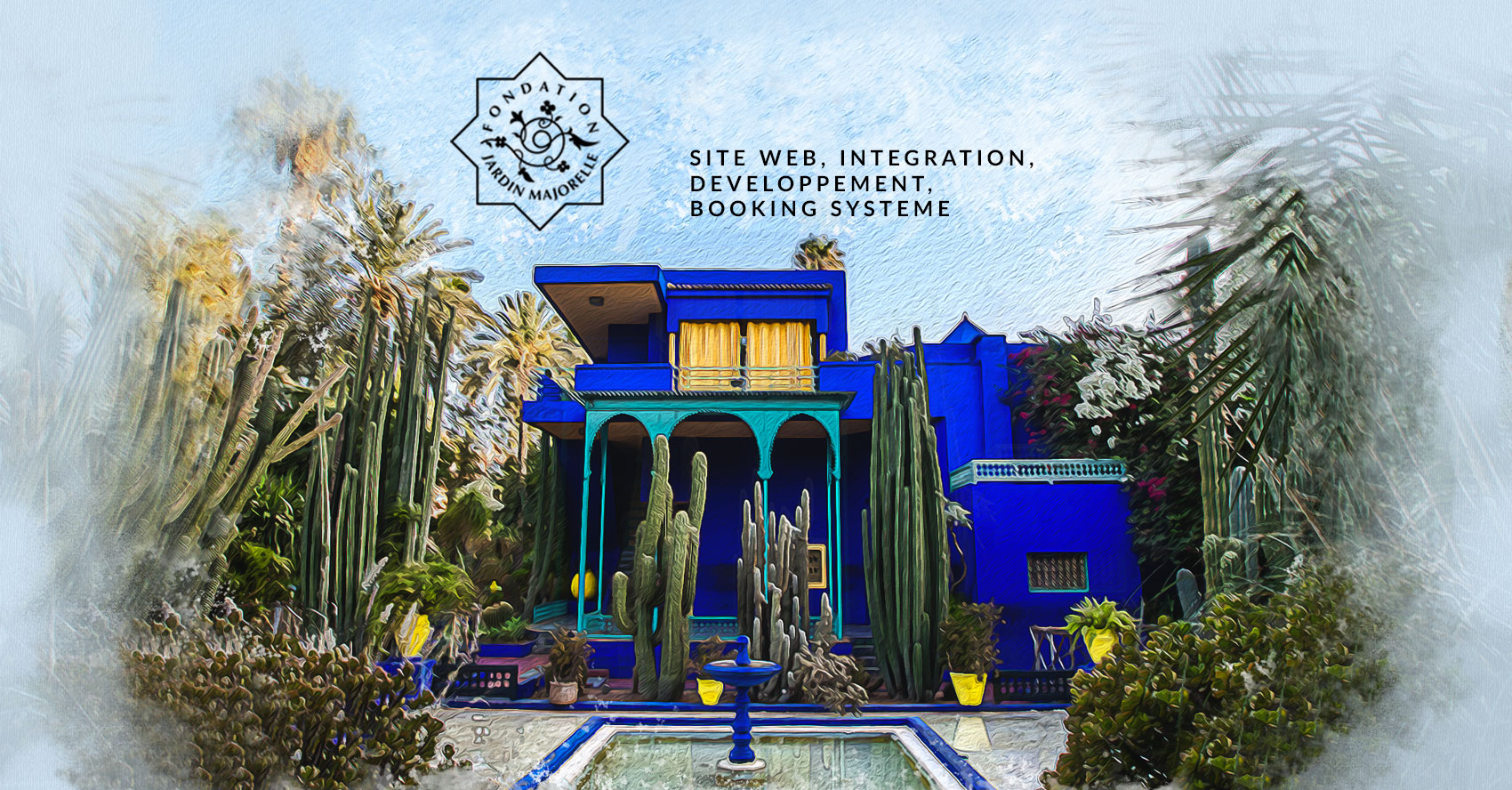 Conception et développement du site web E-ticket de Jardin Majorelle par l'agence web Majjane
