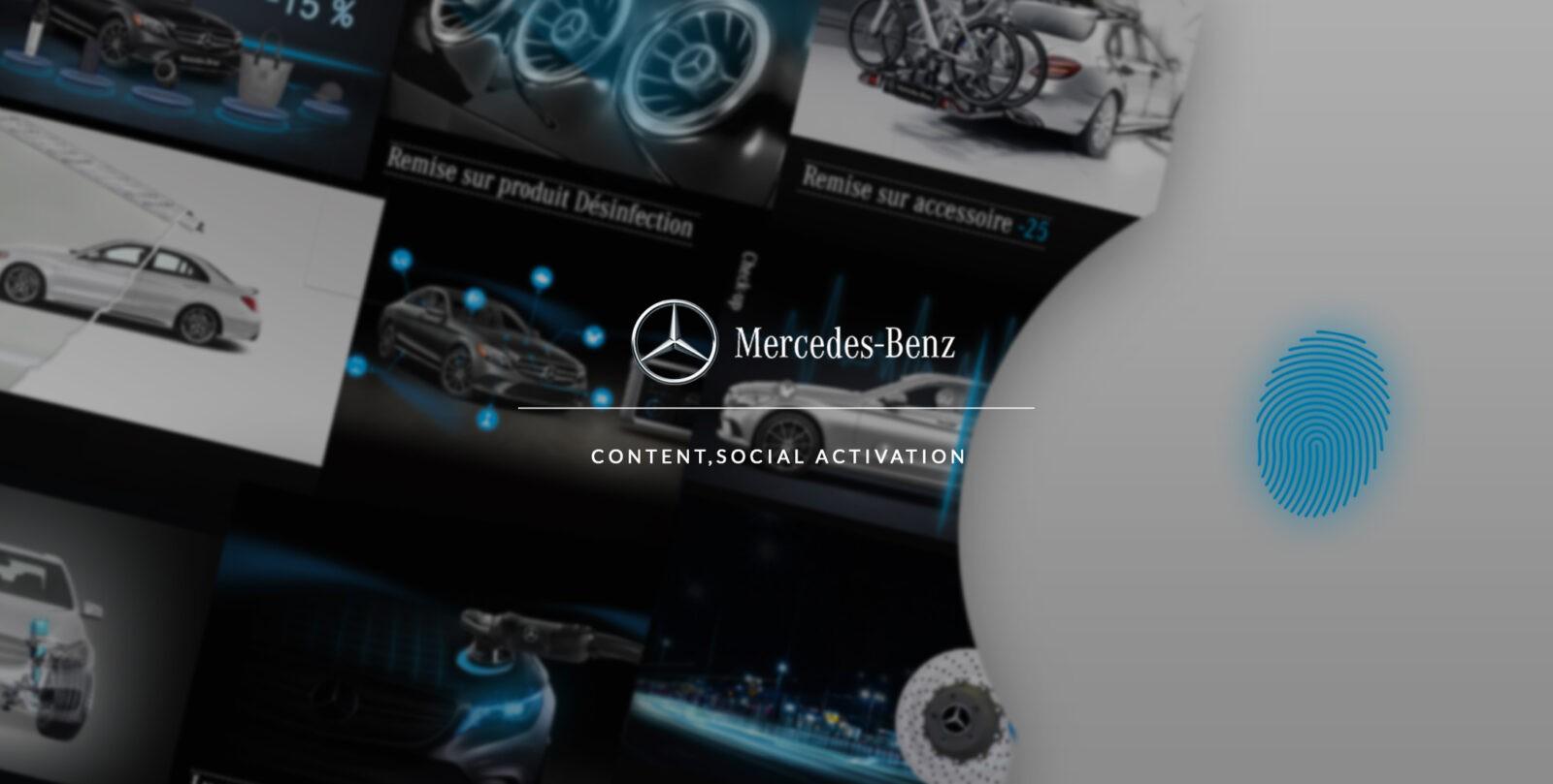Conception et développement du site web et de l'application mobile Mercedes par l'agence web et mobile Majjane.